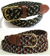 Woven Stretch Belt Mens 2 Colors Size S thru 3XL