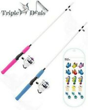 New Shakespeare 6 ft 2 Pce Hot Rod Kids Fishing Rod and Reel Combo with Line