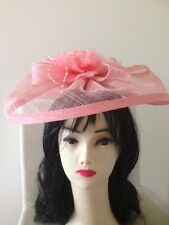 Wedding Party Carnival Races Hat Headband Pink Fascinator