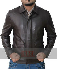 Indiana Jones Harrison Ford Men's Dark Brown Real Leather Jacket