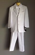 NWT Quality Vangogh Boys White 5 Piece Tuxedo/ Suit Sizes 5,6 & 7 - FREE POST!