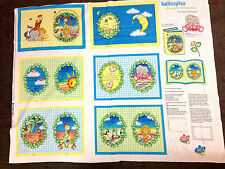 BAZOOPLES BOOK / QUILT FABRIC PANEL 100% COTTON