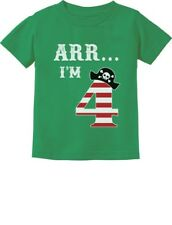 Arr I'm 4 Pirate Birthday Party Four Years Old Toddler/Infant Kids T-Shirt Funny