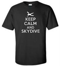 Keep Calm And Skydive T-Shirt Skydiving Mens Tee More Colors
