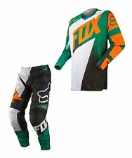 NEW 2015 FOX RACING 180 RACE,WHITE/GREEN,ADULT,JERSEY PANT,MX DIRTBIKE,OFFROAD