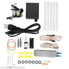 Complete Tattoo Kit Set Equipment Machine Needles Power Supply Gun Color Inks