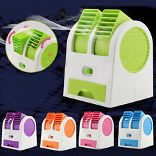 Mini Small USB Fan Cooling Portable Mute Desktop Dual Bladeless Air Conditioner