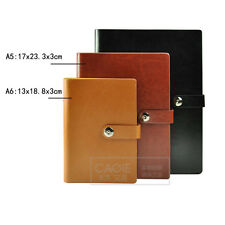 A5/A6 Loose Leaf PU Leather Notebook Diary Ruled Planner Journal Organiser #Y5