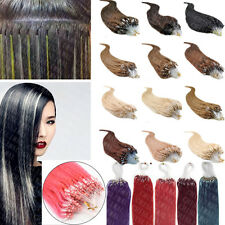 100S Micro Loop Remy Brazilian Virgin Human Hair Extensions 16 18 20 22 24 26