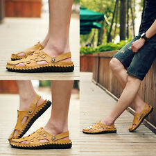 Hot Mens Summer Casual Hollow Button Sandals Runing Beach Walking Shoes Size