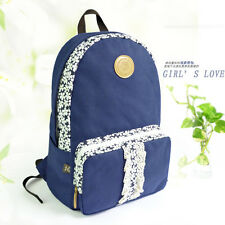 Fashion Women's Canvas Travel Shoulder Bag Backpack School Rucksack Bag