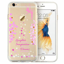 Cartoon Movie Character Fairy Quote CLEAR TPU Cover Case for iPhone Samsung