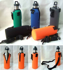 750ML Water Bottle Carrier Insulated Cover Bag Pouch Holder Shoulder US Strap