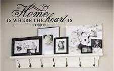 HOME IS WHERE THE HEART IS #2 WALL QUOTE HOME DECOR VINYL DECAL FAMILY LOVE LIFE