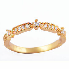 Elegant 9K Gold Filled Ring CZ Womens Band Ring Size 6 7 8 free shipping
