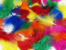 FLUFFY MULTI COLOURED FEATHERS FOR KIDS CRAFTS 25g BAG