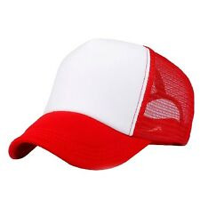 Fashion Cap Attractive Unisex Casual Hat Trucker Mesh Blank Visor Hat Adjustable