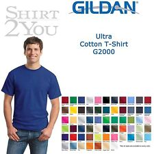 Gildan - Ultra Cotton T-Shirt - 2000 Size S-XL Over 40 Colors