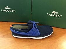 "Lacoste Men's ""L.andsailing 116"" SPM Lace Up Boat Shoe In Navy"