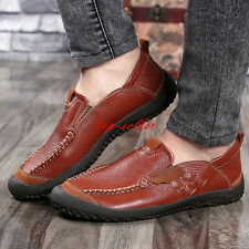 Men's Loafers Driving Business Formal Moccasins England Stitching Shoes Oxfords