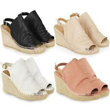 New Womens Ladies Espadrille Wedge Sandals Platforms Low Heels Summer Shoes Size