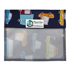 Planet Wise Sandwich and Snack Window Bag - reusable easy to clean fun designs 2
