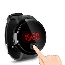 Fashion Waterproof Mens Watch LED Touch Screen Date Silicone Wrist Watch JE