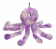 Dog Toy Petface Purple Octopus Squeaky Crinkly Plush Puppy Dog Fun Play Toy