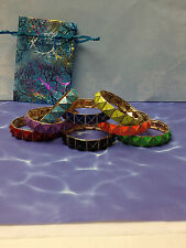 FASHION GOLD STRETCH BRACELET  U PICK  black green orange purple red yellow blue