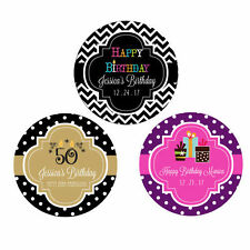 Custom Personalized Round Birthday Theme Party Favor Labels Stickers Q21114