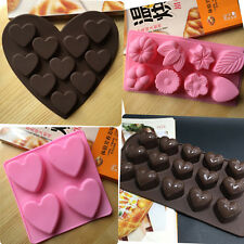 Heart Chocolate Cake Cookie Muffin Candy Jelly Ice Silicone Mould Mold Tray Pan