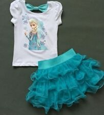 Kids Girls Dresses Disney Elsa Frozen dress costume Princess Anna party dresses*
