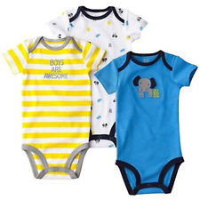 Just One You Carters Infant Boys Bodysuits   3 PACK  Size NB or 0-3M NWT
