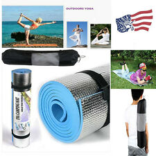 Blue 180 * 60 * 0.6cm Thick Yoga Mat Pad Bag Leisure Picnic Exercise Fitness MY