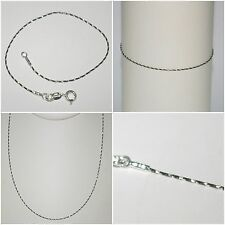 Black Ruthenium plated over Sterling Silver 925 Chain NECKLACE, ANKLET, BRACELET