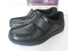 NEW CLARKS BOOTLEG OLDER BOYS BLACK SOFT LEATHER SCHOOL SHOES VARIOUS SIZES