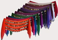 Belly Dance Hip scarf Wrap Belt Waist Chain with 320 silver or gold Coins.