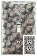 Baseball Sports Decorative Light Switch Cover Outlet Switch Plate