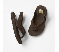 GAP Toddler Suede Ankle-Strap Flip Flops Sandals - Brown 5-6T/7-8T/9-10T NWT