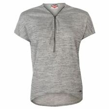 Lee Cooper Ladies Zip Detail Top Charcoal New With Tags