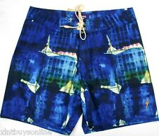 Lightning Bolt Board Shorts Surf The Web Blue Surf  Swimwear Lightning Bolt