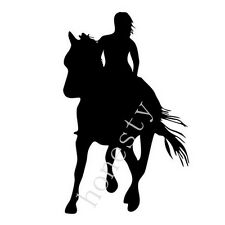 Girl Horse Riders Car Sticker Decals Horse Lovers wall home window glass vinyl