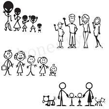 Family Figure Car Stickers Funny Creative Vinyl Decals Auto Stickers Door Decor