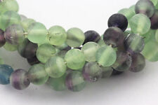 2.0mm Large Hole Matte Fluorite Round Loose Beads 15.5'' Long Size 8mm/10mm