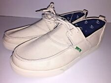 Sanuk Offshore Men's Canvas Lace Up Boat Shoes Sandals Natural All Sizes NWT