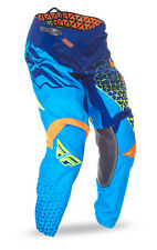 Fly Racing NEW 2016 Youth Mx Kinetic Trifecta Blue Orange Motocross Kids Pants