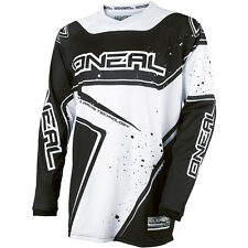 Oneal 2017 NEW Adult Mx Gear Element Dirt Bike BMX Black White Motocross Jersey