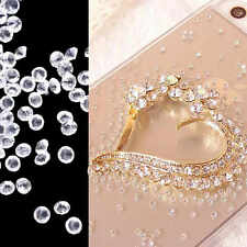 1000pcs  Resin round transparent Rhinestones Flat back 3mm 4mm  5mm