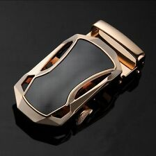 Genuine Leather Fashion Men's Gold Sport Car Automatic Buckle Waist Strap Belts