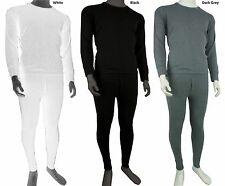 NEW MENS FULL SET THERMAL UNDERWEAR LONG SLEEVE VEST TOP & LONG JOHNS S -2XL